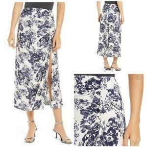 NWT Reformation Grazie Madame Floral Midi Skirt